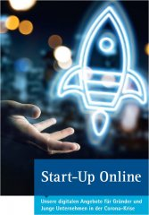 Titelbild zum Flyer Start-Up Online